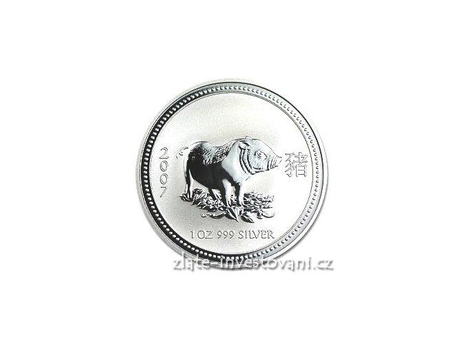 2666 investicni stribrna mince rok vepre 2007 1 oz