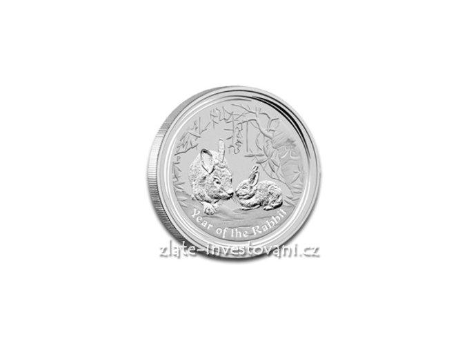Investiční stříbrná mince rok Králíka 2011 1 Kg