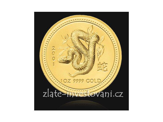 Investiční zlatá mince rok Hada 2001 1 Oz