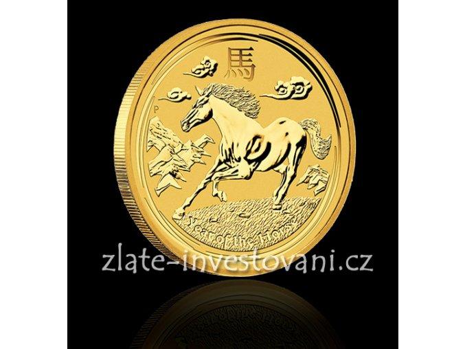 Investiční zlatá mince rok koně 2014 1/4 Oz