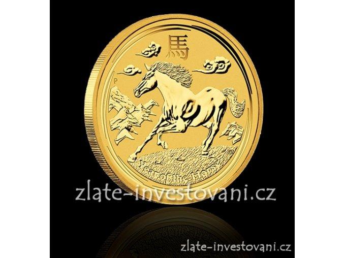 Investiční zlatá mince rok koně 2014 1 Kg