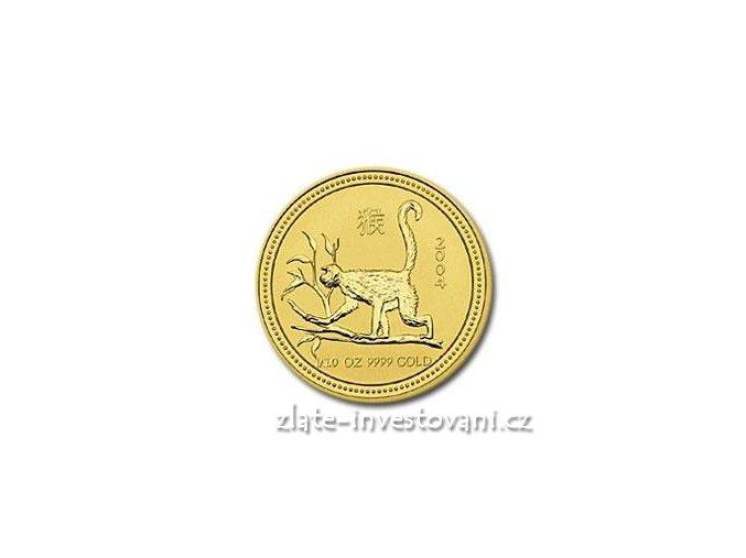 2765 investicni zlata mince rok opice 2004 1 10 oz