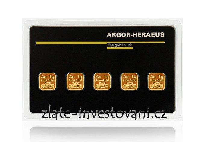 Investiční zlatý slitek Multicard- Argor Heraeus 5g