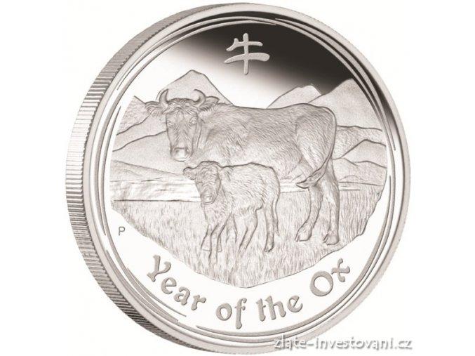 2834 stribrna mince rok buvola 2009 1 kg