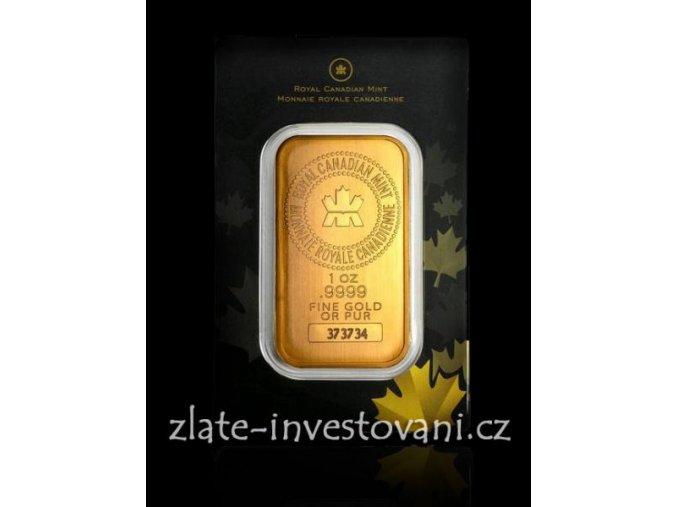 Investiční zlatý slitek kanadský Maple Leaf 1 Oz