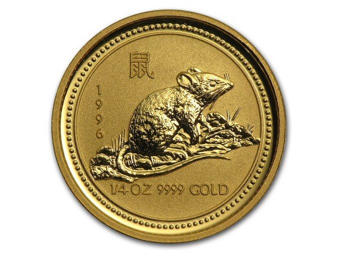 Investiční zlatá mince rok krysy 1996 1/4 Oz