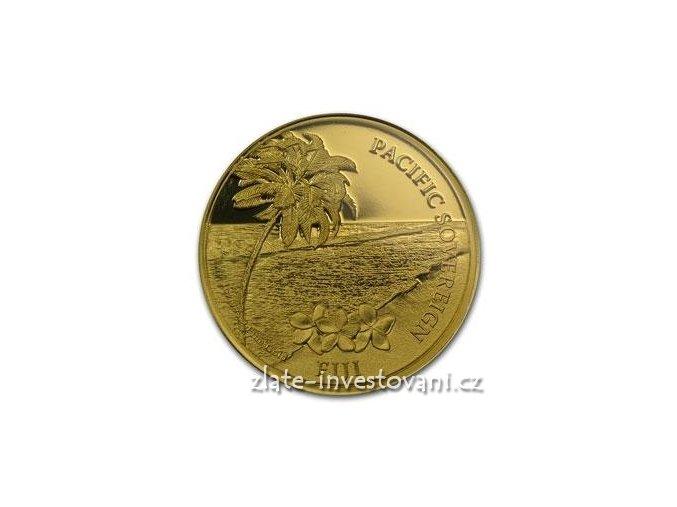 Investiční zlatá mince pacifický Sovereign-Nový Zéland-2012