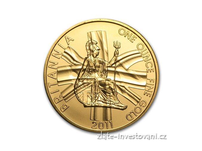 Investiční zlatá mince Britannia 2011 1 Oz