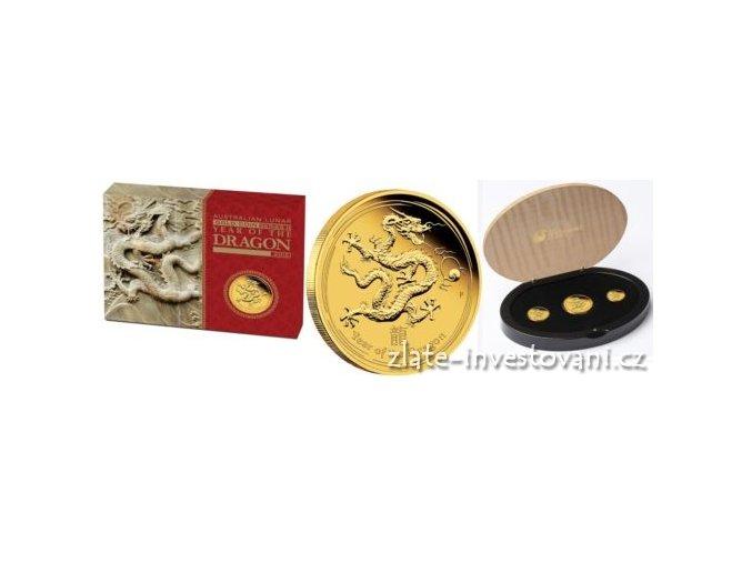 2933 set tri minci lunarniho kalendare rok draka 2012 proof
