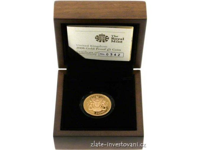 3053 britska zlata libra proof