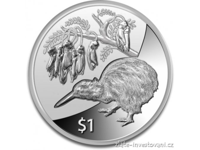 Investiční stříbrná mince Kiwi 2012 1 Oz