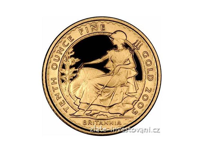 3089 investicni zlata mince britannia proof 1 10 oz