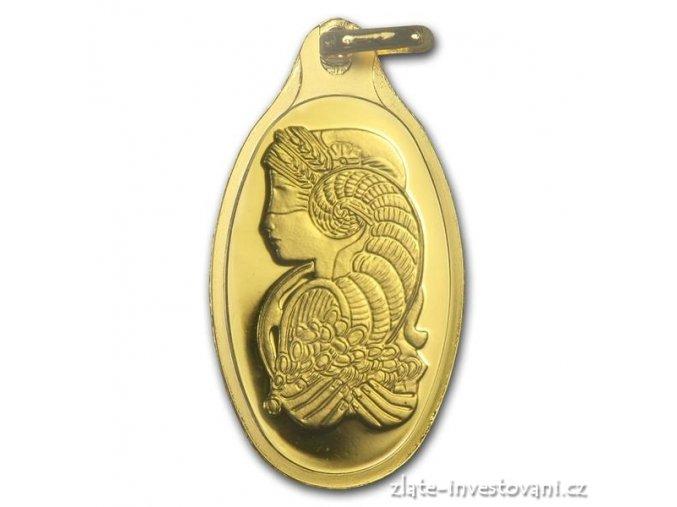 Investiční zlatý slitek Fortuna-šperk-Švýcarsko