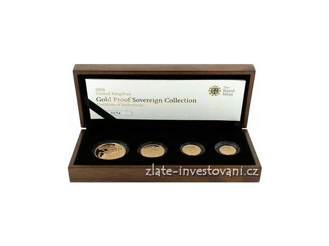 3170 zlaty investicni set minci sovereign proof 4 mince