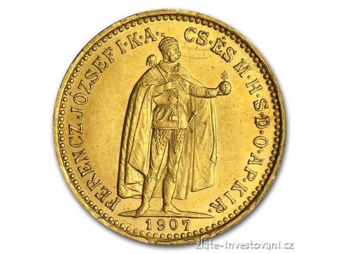 3176 zlata mince desetikoruna frantiska josefa i uherska razba 1893 kb
