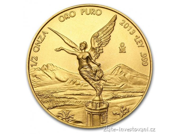 Investiční zlatá mince Libertad-Mexiko 1/2 Oz