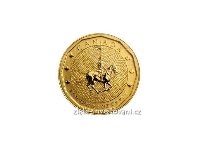 3278 investicni zlata mince kanadska jizdni mountie 2011 1 oz