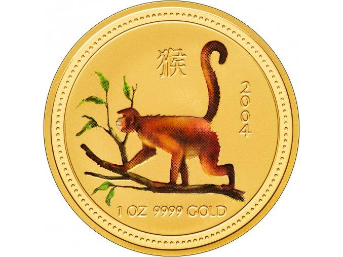 Zlatá mince rok opice 2004 1/2 Oz