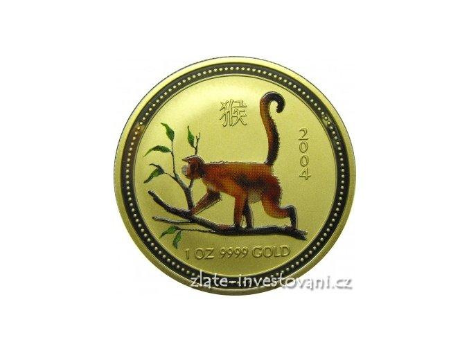 3296 zlata mince rok opice 2004 1 2 oz