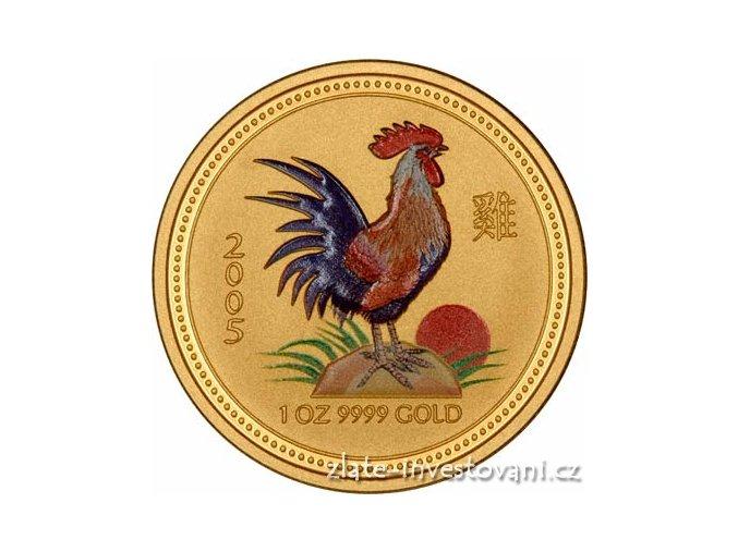 Zlatá mince rok Kohouta 2005 1 Oz