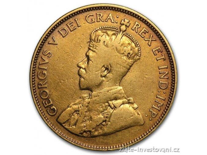 3308 zlata mince kral george v kanada 10 dolaru