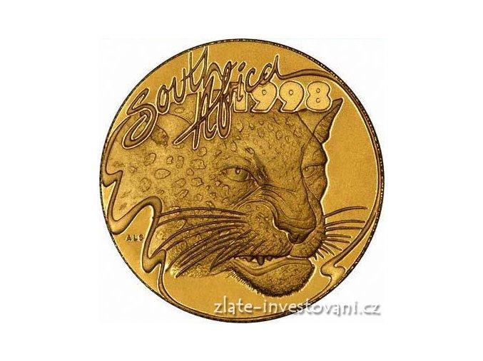 3332 zlata mince leopard 1998 serie natura sa mint 1 2 oz