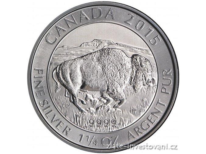 Stříbrná mince Bizon 2015 1 1/4 Oz