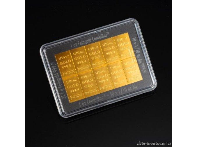 Investiční zlatý slitek-kombibar Valcambi 1 Oz