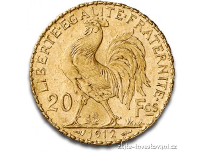 3515 zlata mince francouzsky 20 frank kohout marianne