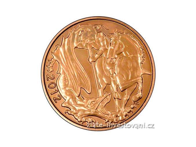 Investiční zlatá mince britský Sovereign 2012