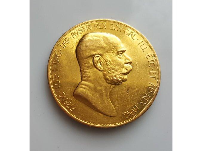 3797 zlata mince jubilejni stokoruna frantiska josefa i rocnik 1908 dama v oblacich