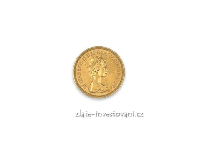 3848 investicni zlata mince britsky pul sovereign alzbeta1957