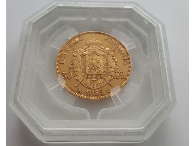 Zlatý 50 frank Napoleon III.