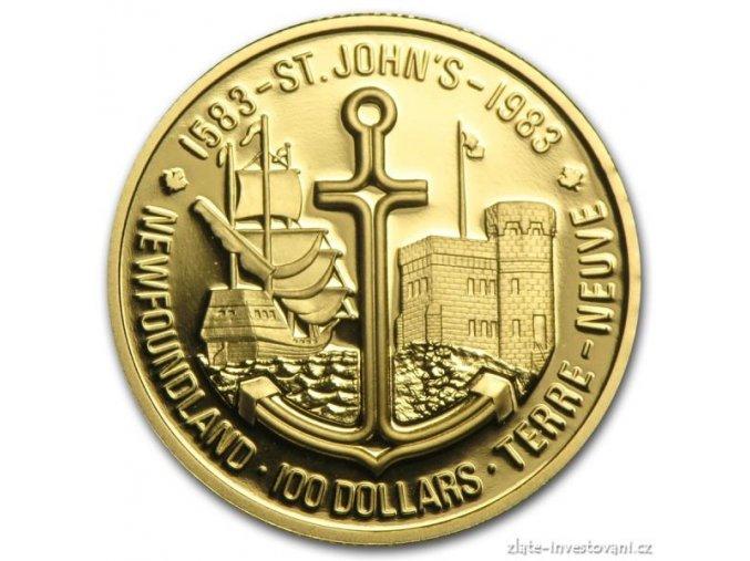4160 zlata mince new founland 1983 proof kanada 1 2 oz