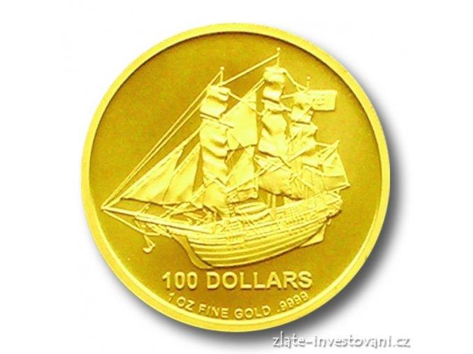 Investiční zlatá mince Bounty-Cook Islands 1 Oz