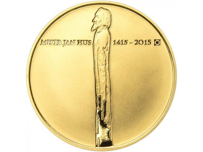 4178 zlata mince mistr jan hus 600 vyroci upaleni 2015 1 oz