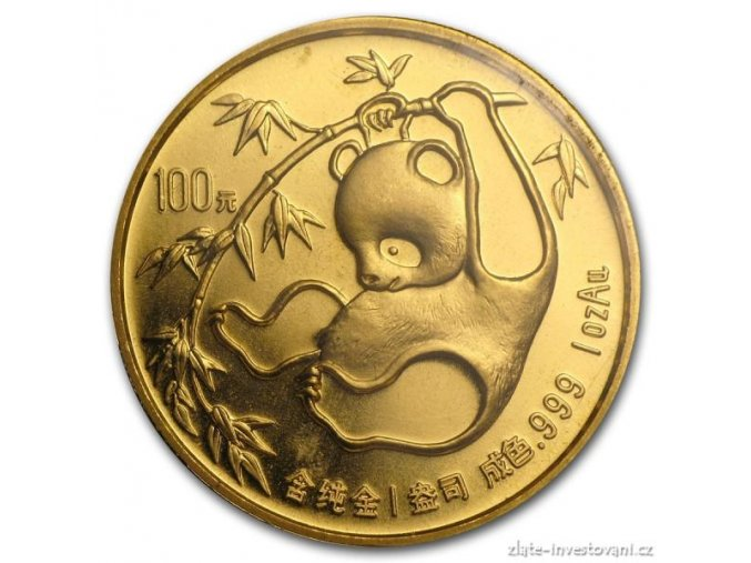 4418 investicni zlata mince cinska panda 1985 1 oz