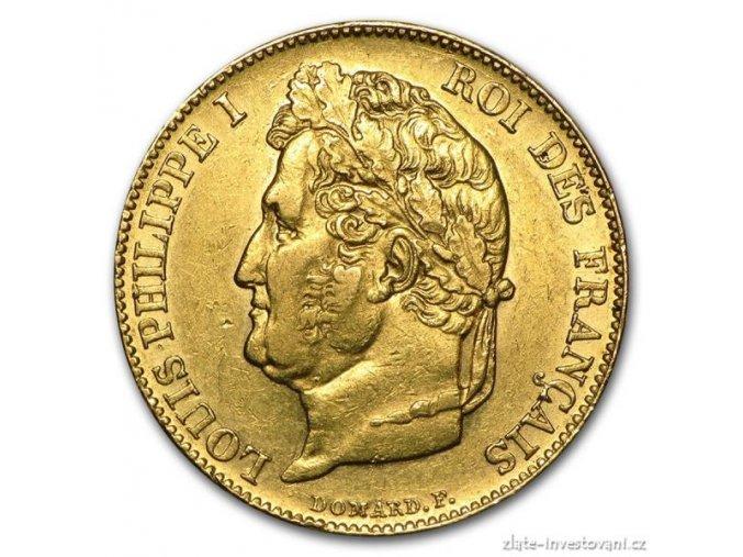 4631 zlata mince francouzsky 20 frank ludvik filip i
