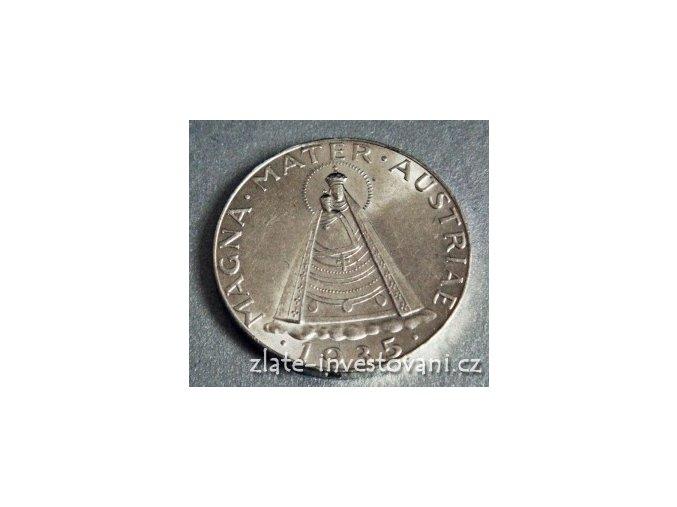 4637 stribrna mince rakousky 5 silink madona magna mater