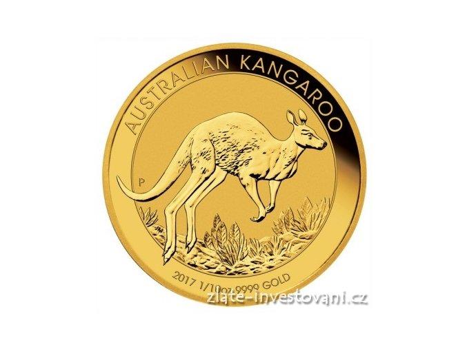 4925 investicni zlata mince australsky klokan nugget 2017 1 10 oz