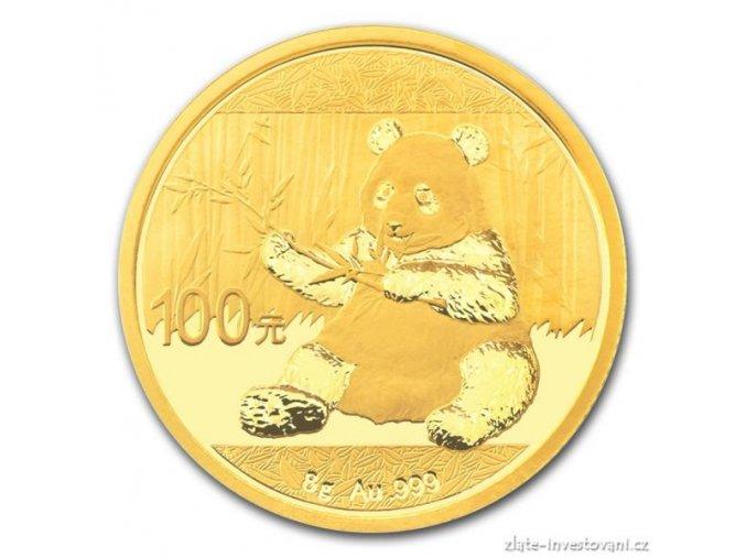 5012 investicni zlata mince cinska panda 2017 8g