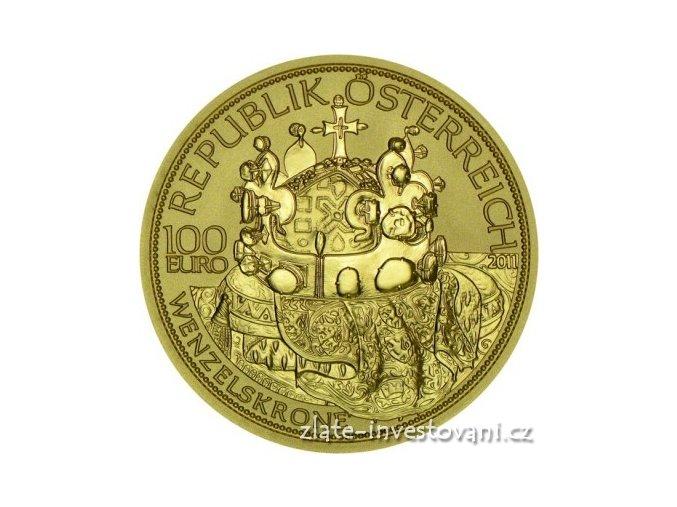 5057 zlata mince cisarska koruna svateho vaclava 2011 100 eur