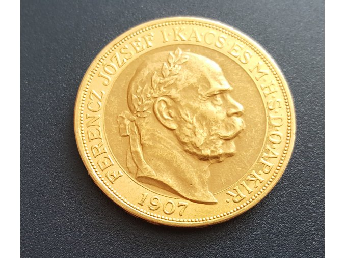 Zlatá 100 korona 1907-40.výročí korunovace