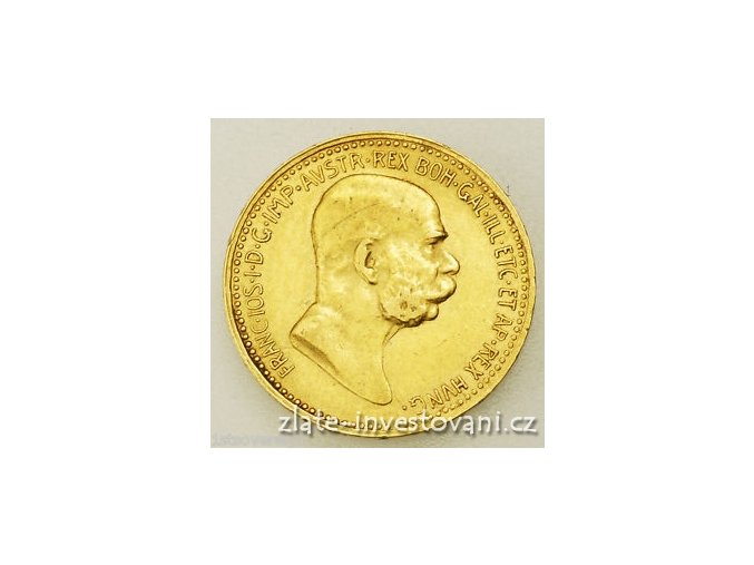 5225 zlata mince desetikoruna frantiska josefa i rakouska razba 1910 velka hlava