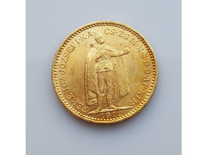 Zlatá mince Dvacetikoruna Františka Josefa I.ročníková ražba