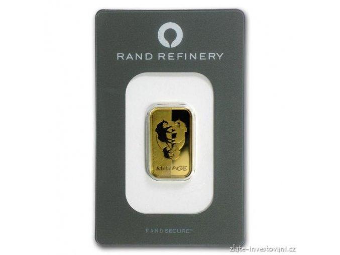 Investiční zlatý slitek Rand SA-Fata morgána 10g