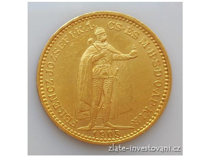 5426 zlata mince 20 korona 1905 kb mint