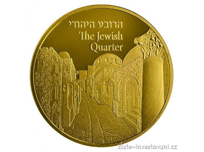 5465 zlata mince zidovska ctvrt serie views of jerusalem 2017 1 oz