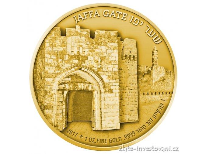 5468 zlata mince brana jaffa serie brany jeruzalema 2017 1 oz