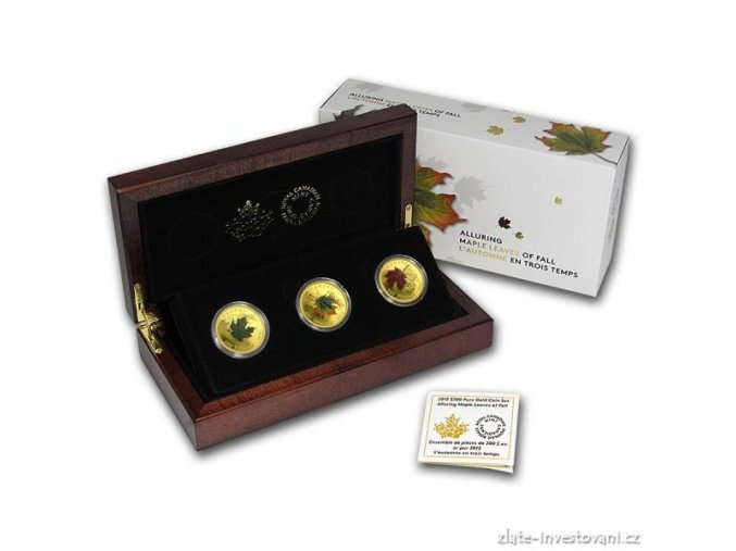 5522 investicni zlaty set maple leafs of fall 2015 proof 3 oz